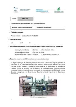 Microsoft Word - PIE - Acceso remoto a la célula flexible FMS