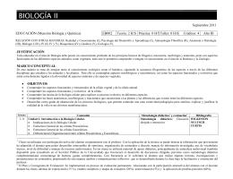 Septiembre 2011 EDUCACIÓN (Mención Biología y Química) EB002