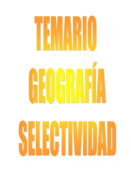 TEMA 1: La singularidad geográfica de España