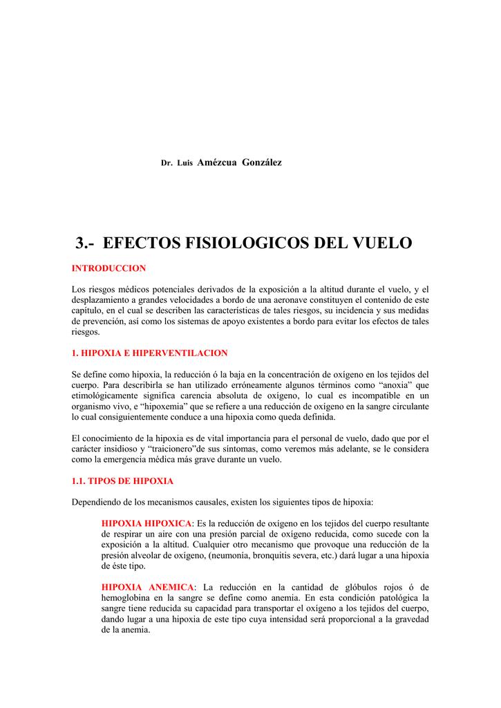 Dr. Luis Amézcua González 3.- EFECTOS FISIOLOGICOS DEL