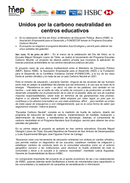 Escuelas carbono neutral: