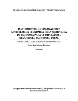 Mesa III, ponencia 5 - Foro Nacional sobre Federalismo y