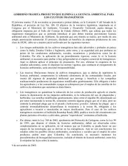 Comunicado LICENCIA AMBIENTAL nov_10_2005