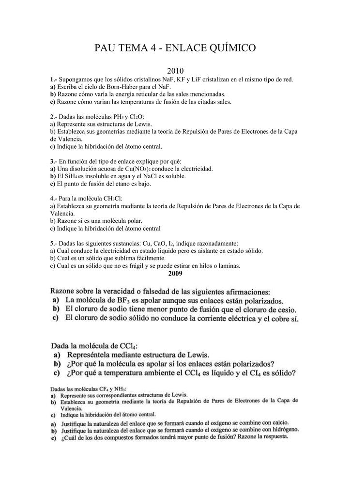 Pau Tema 4 Enlace Químico