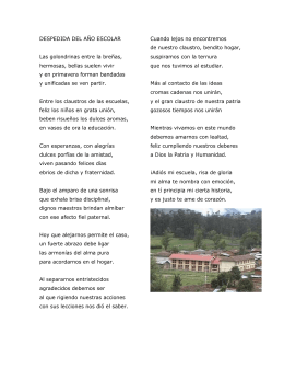 julio - poemas de despedida