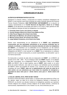 SINDICATO NACIONAL DEL PERSONAL TÉCNICO DOCENTE PROFESIONAL DEL SENATI