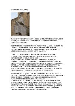 AVERROES (SIGLO XII)