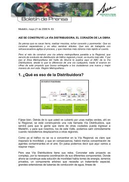 No. 83 Avances de la obra de la Distribuidora