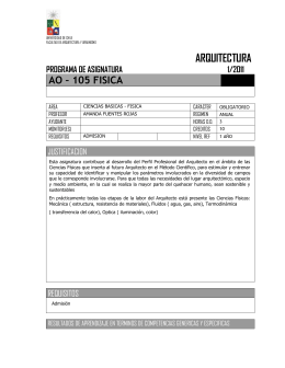 ARQUITECTURA - Universidad de Chile