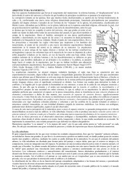 ARQUITECTURA MANIERISTA: