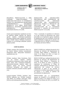 EBAZPENA,  PORTUGALETEN  9.  HIRI- RESOLUCIÓN DE