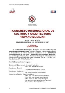 I CONGR. INTERNAC. DE CULTURA Y ARQUITECTURA MUDERJAR