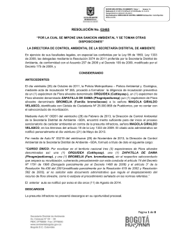 RESOLUCIÓN No. 03465 Página 1 de 8 RESOLUCIÓN No. 03465
