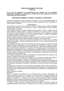 RESOLUCIÓN NUMERO 0136 DE 2004 (Febrero 6)
