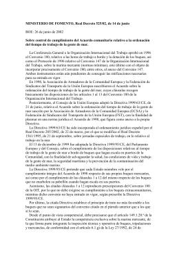 R.D. 525/02, de 14 de junio - Ministerio de Empleo y Seguridad Social