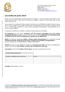 Tardes de junio 2015_Inscripcion