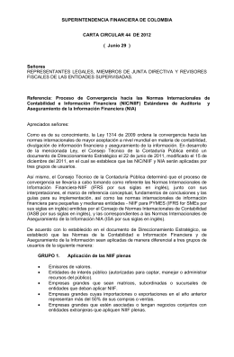 Carta Circular 44 de 2012 - Superintendencia Financiera de Colombia