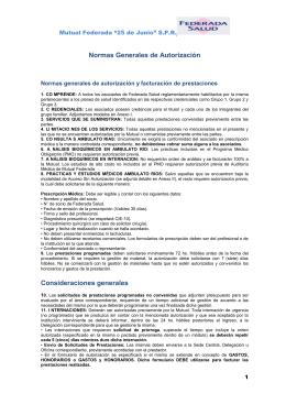 """Mutual Federada """"25 de Junio"""" S - Federación Médica de Río Negro"""