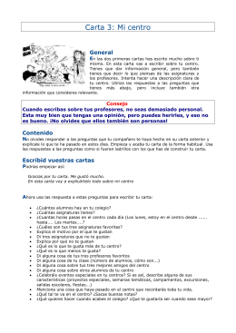 Carta 3: Mi centro - European Schools Project Association