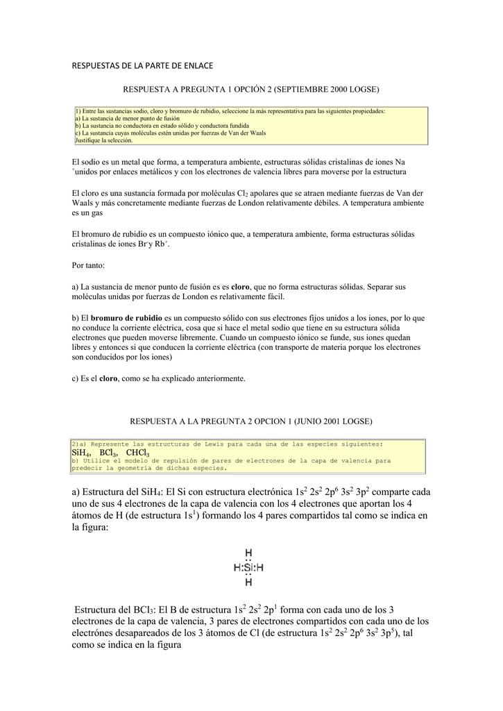 Respuestas De La Parte De Enlace Respuesta A