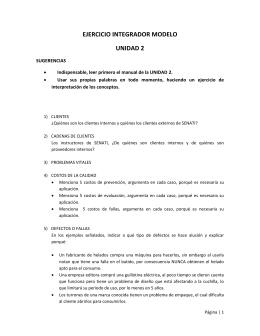 EJERCICIO INTEGRADOR MODELO UNIDAD 2 SUGERENCIAS