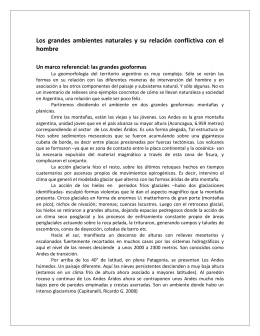 Documento 3. Grandes ambientes naturales de Argentina Relieves