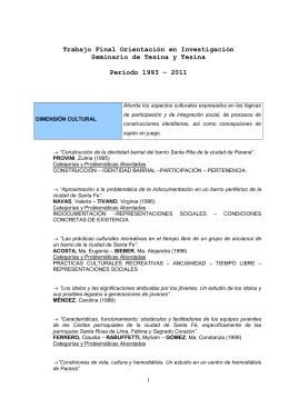 Trabajos 1993-2011 - Facultad de Trabajo Social