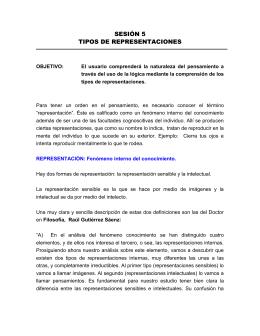 5- TIPOS DE REPRESENTACIONES