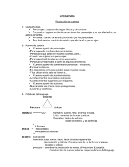 LITERATURA  Producción de cuentos 1-  Componentes.