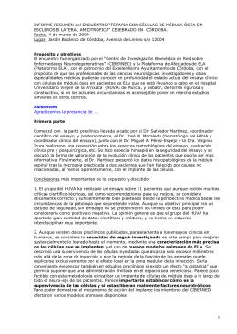 Resumen - Plataforma Afectados de ELA