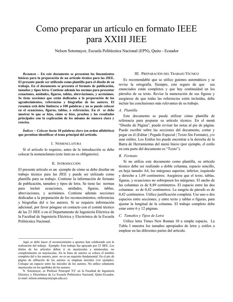 Formato Paper IEEE - Departamento de Automatización y Control