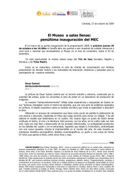 Oscar Suárez - Museo Emilio Caraffa