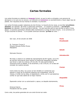 La Carta formal - practicasinformatica