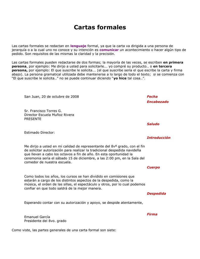 La Carta formal - practicasinformatica