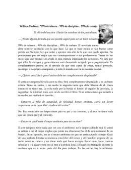 "William Faulkner: ""99% de talento"