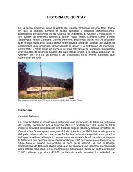 HISTORIA DE QUINTAY