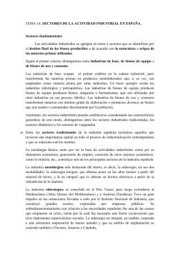 Tema 16: Sectores de la actividad industrial en España