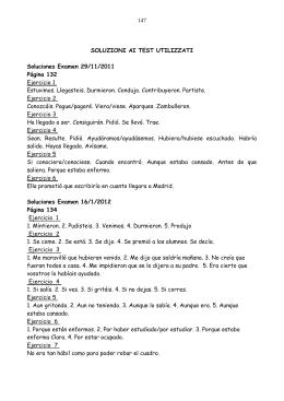 1 SOLUZIONI AI TEST UTILIZZATI Soluciones Examen 29/11/2011