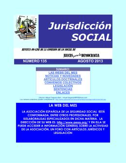 Revista de Jurisdicción Social número 135 del mes de Agosto