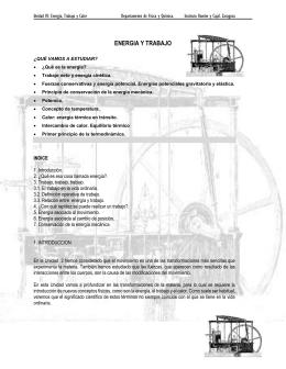 TEMA 3. Trabajo y energía