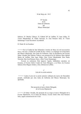 42 30 de Mayo de 1913 53ª Sesión de la Junta de Gobierno del