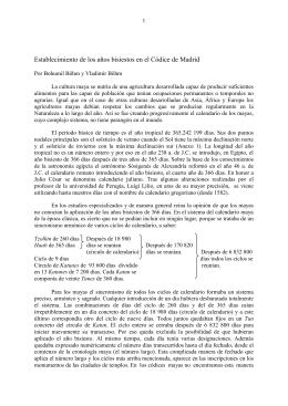 Establecimiento de los años bisiestos en el Códice de Madrid