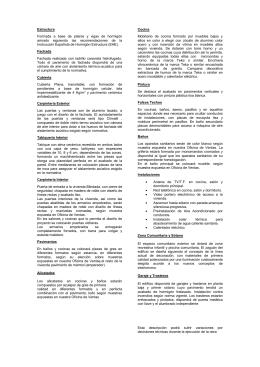 MEMORIA DE CALIDADES EDIFICIO ESTELA (PARC CENTRAL)
