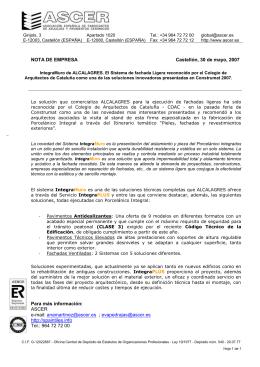 IntegraMuro de ALCALAGRES. El Sistema de fachada Ligera