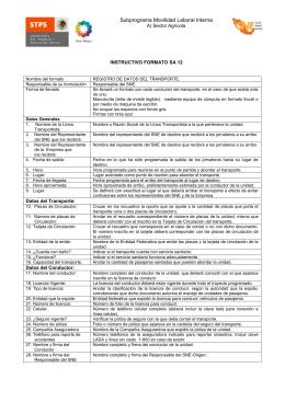 INSTRUCTIVO FORMATO SA 12
