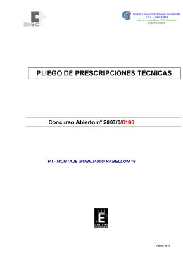 """Concurso Abierto nº 2007/0/0100 - Hospital Universitario """"Marqués"""
