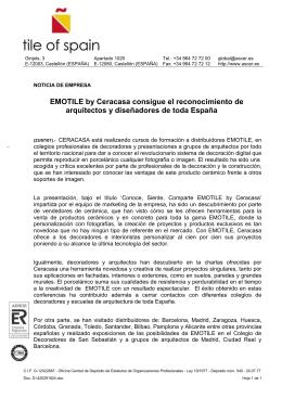 EMOTILE by Ceracasa consigue el reconocimiento de arquitectos y
