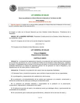 Ley General de Salud - Word