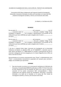 Modelo UPM de acuerdo de colaboración-Sencillo