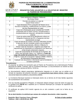 requisitos para adjuntar a la solicitud de registro